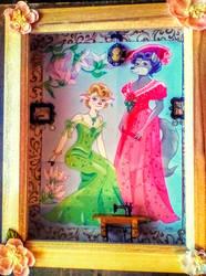Flora and Dora-Gibson Girls Shadowbox