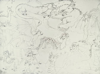 Here There Be Dragons-Sketch