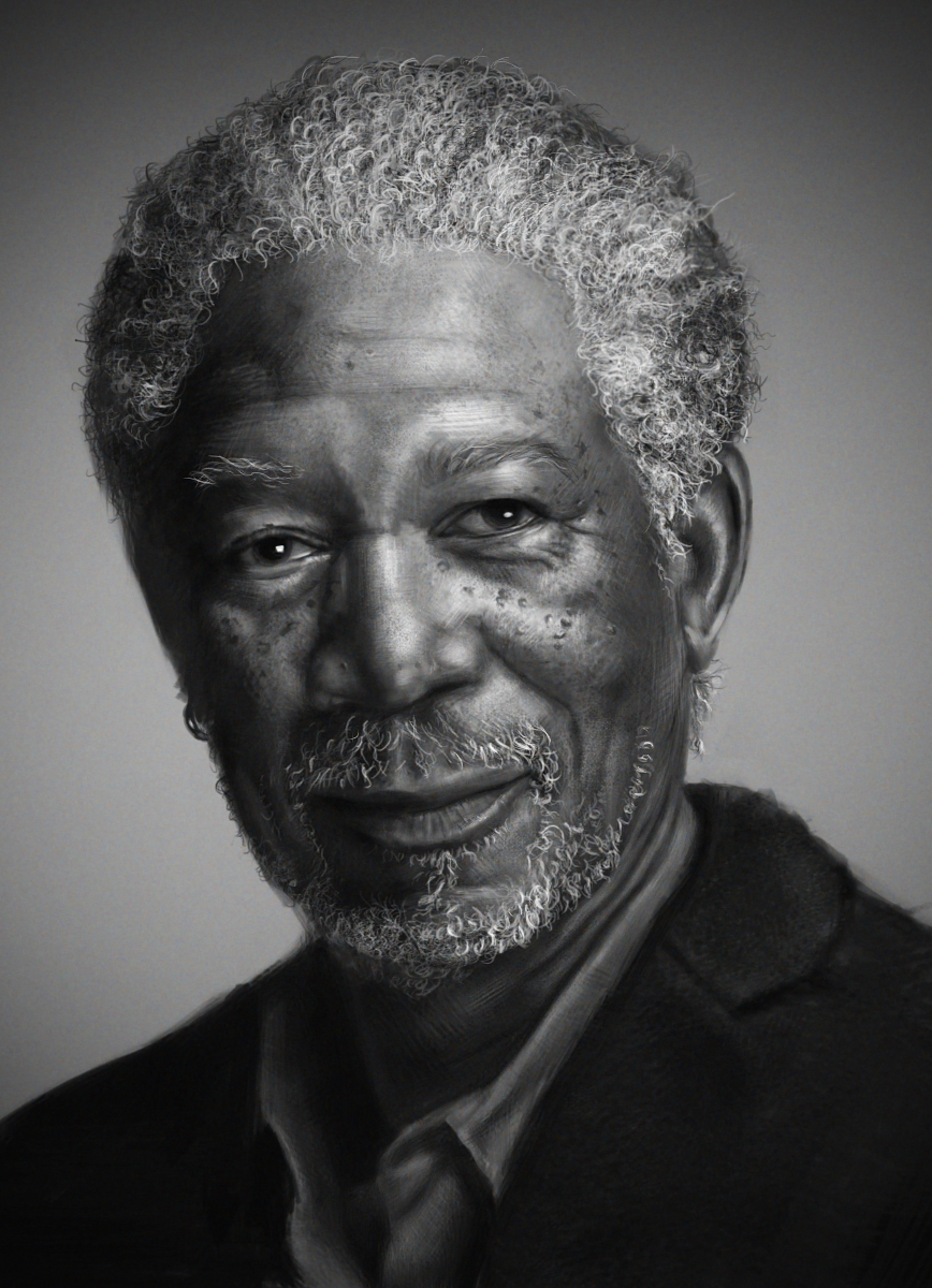 Morgan Freeman by yjb1119 on DeviantArt