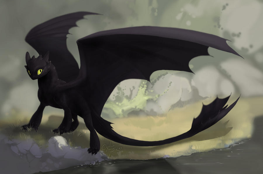 Имеет чёрную шкуру с гладким.  Согласно Энциклопедии Драконов,вы .