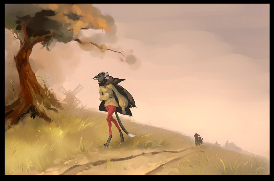 chased the cat by Orphen-Sirius