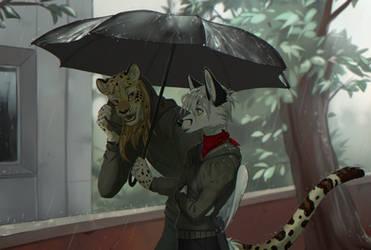 rainy meeting by Orphen-Sirius