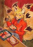 hearty lunch for kitsune