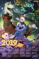 children's calendar 2019 by Orphen-Sirius