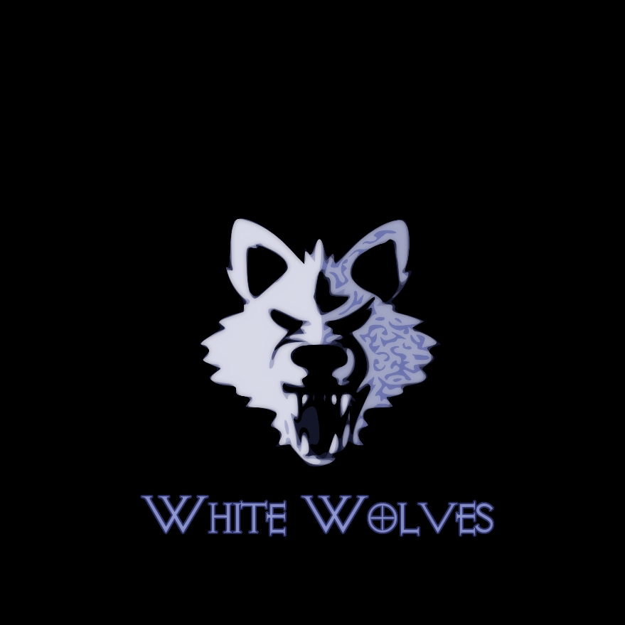 white wolves minimalist logo by asmgee on deviantart