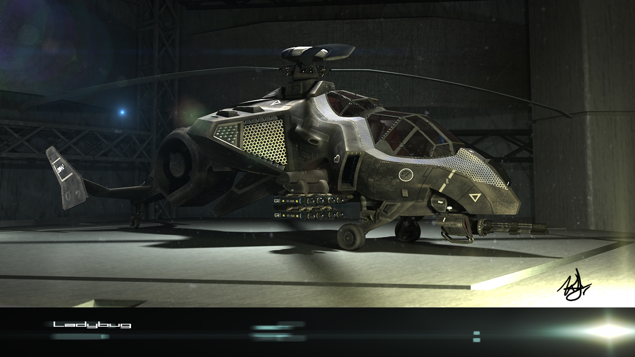 Ladybug attack helicopter 2 by wilzoon on deviantart for Design attack