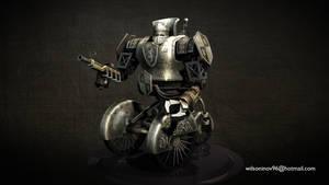 Knight - steampunk robot