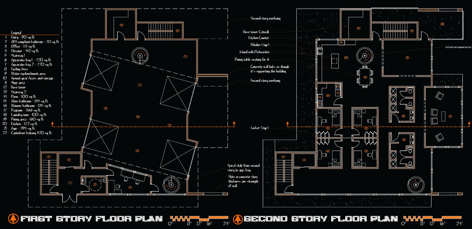 Fire Station Floor Plan By Codeblu90 On Deviantart