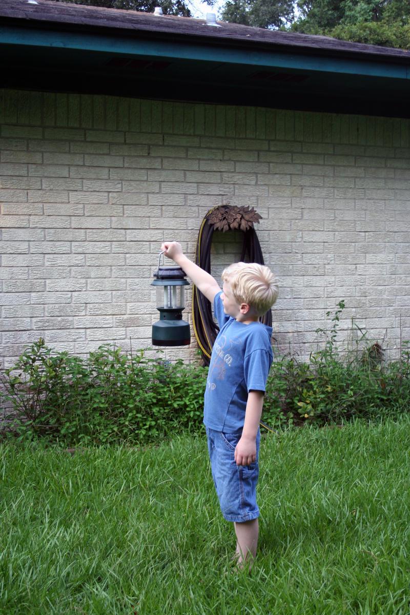 Boy with lantern