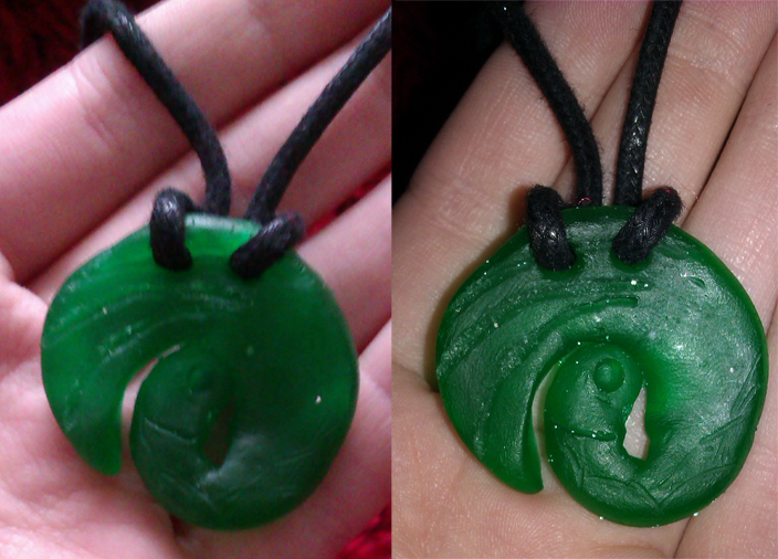 Lara Croft necklace by Zelvyne