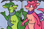 ACEO Commission - Duncan and Deja Roo
