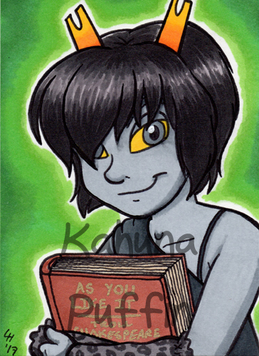 ACEO Commission - A very well-read troll