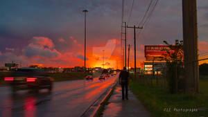 Orange sunset Austin