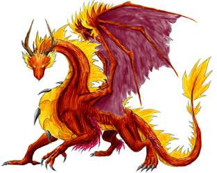 Fire Dragon by Niicchan