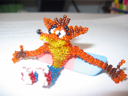 Beaded crash bandicoot by Niicchan