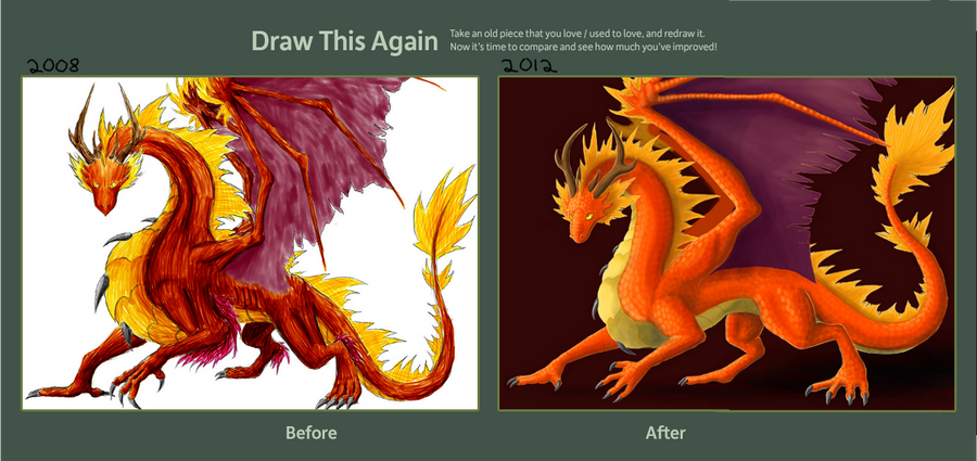 how to draw a fire dragon