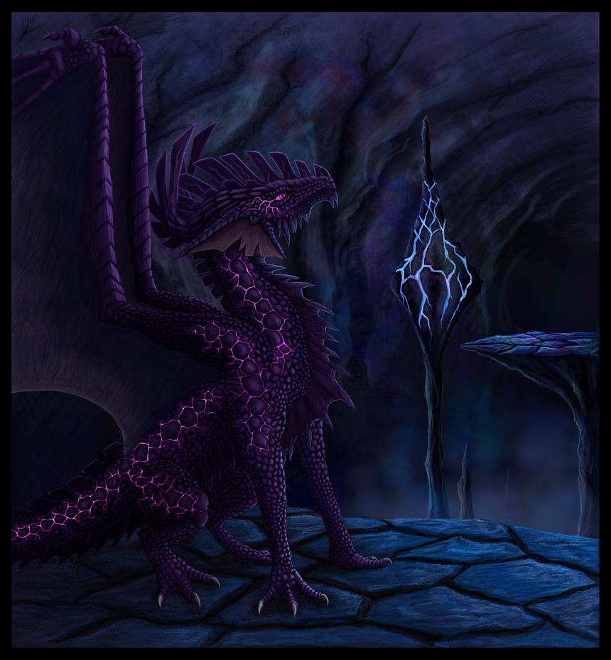 Obsidian Dragon by Niicchan