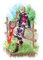 Xenoblade Chronicles - Shulk by Niicchan