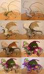 Purple Dragon Sculpture WIP pictures by Niicchan