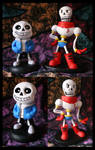 Sans and Papyrus Sculptures by Niicchan