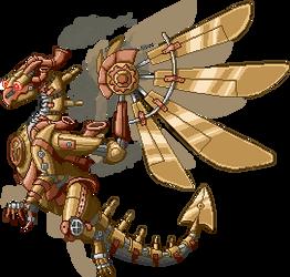 Steampunk Dragon Pixelart