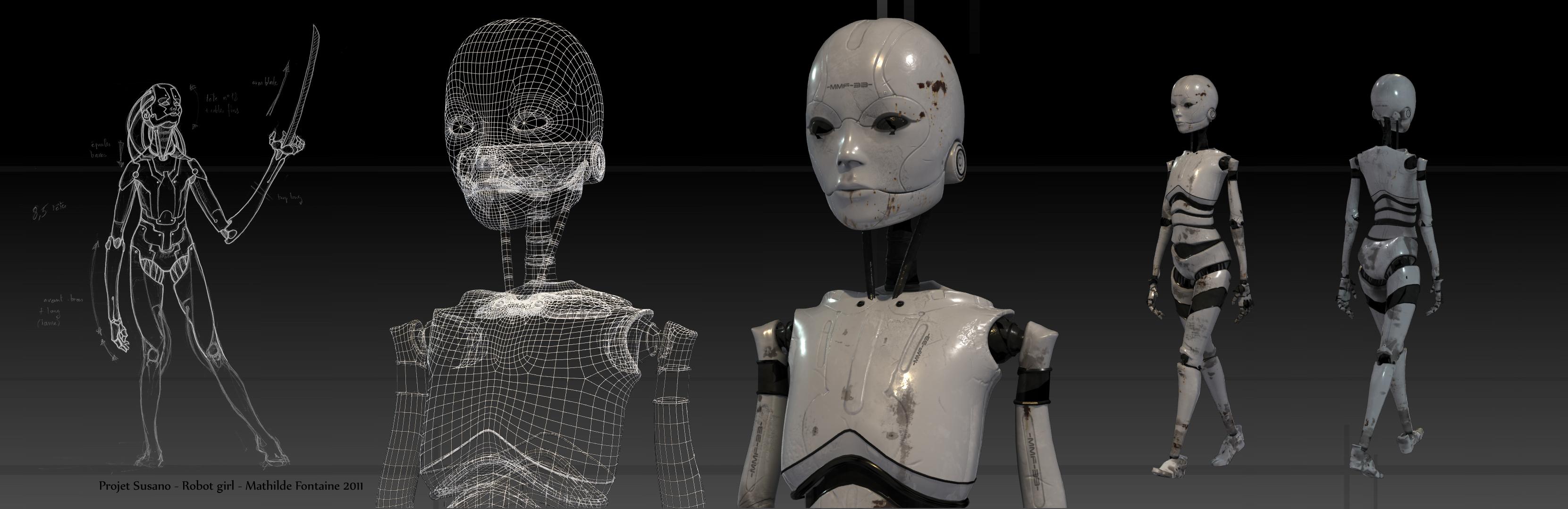робот девочка картинки