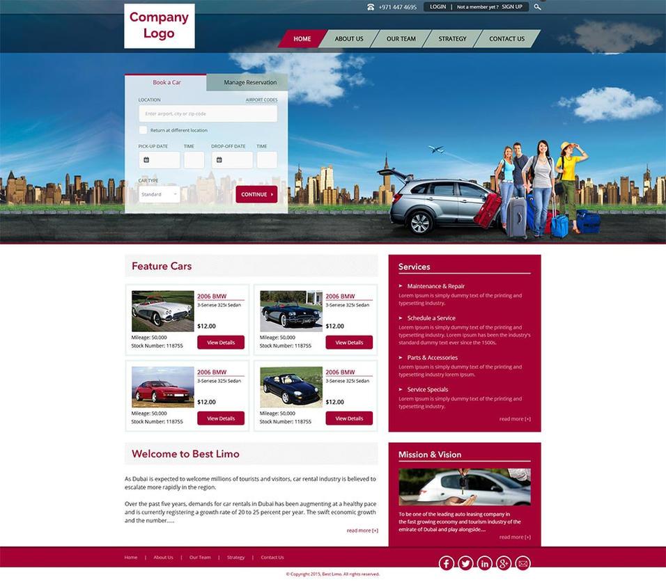 car rental website template by vedwebservices on deviantart. Black Bedroom Furniture Sets. Home Design Ideas