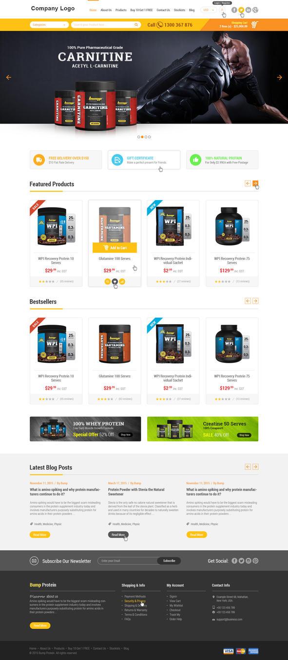 online store website template