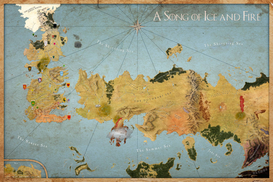 Map A Song of Ice and Fire - Sigils All Houses by Sjefke-04 on ...