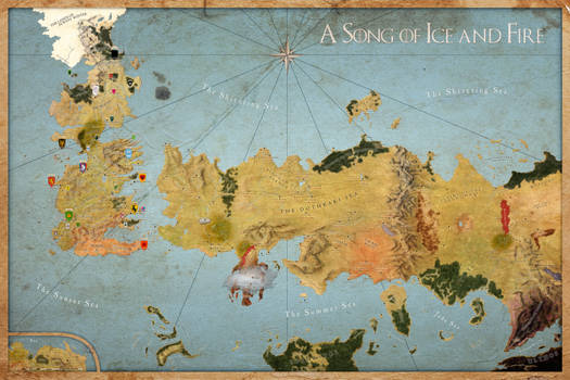 Map A Song of Ice and Fire - Sigils All Houses