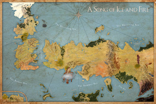 Map A Song of Ice and Fire - Labeled