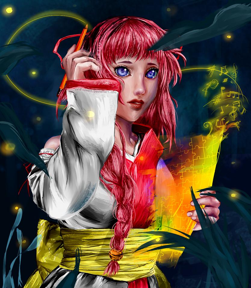 UTAU: Maemi - Music lights my way by IviEnchant