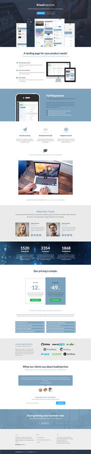 Application Landing Page by Leadinjection