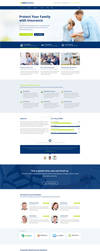 Insurance Agency and Broker Landing Page Template by themeinjection