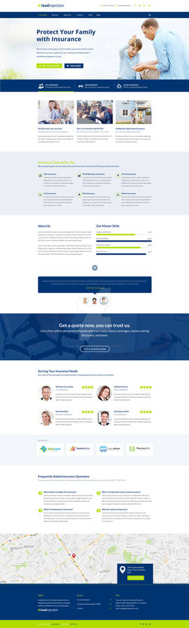Insurance Agency and Broker Landing Page Template