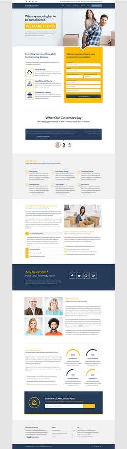 Move - A Landing Page for Moving Companies