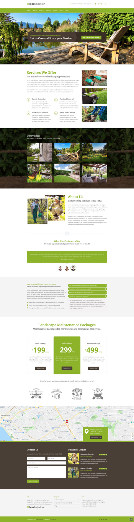 Landscape Landing Page by themeinjection