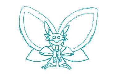 Boceto 1 (Mothman) by ShadowBago