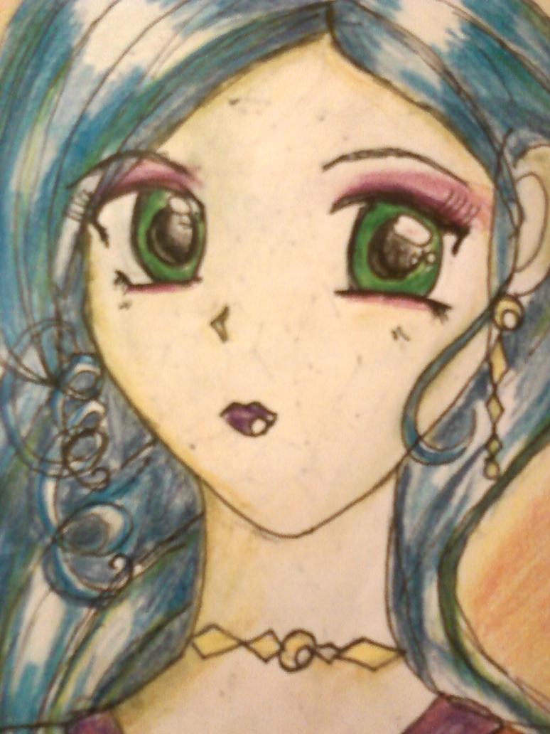 bluehair space girl by Estarz25