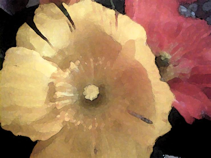 yellow and orange watercolor by Estarz25