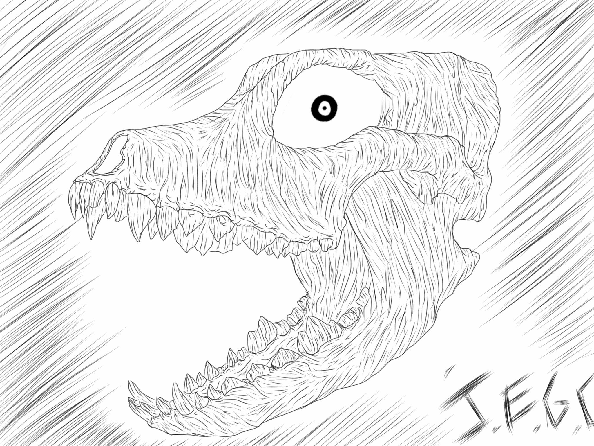 Doggy skull by jjjjoooo1234