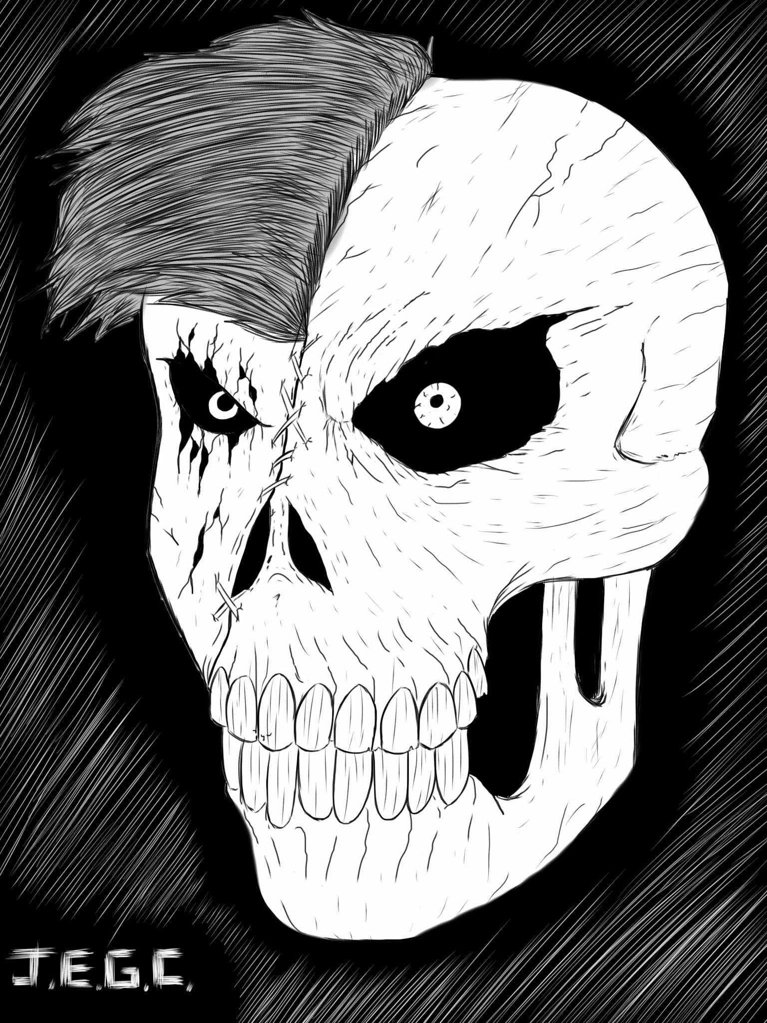Zombie face by jjjjoooo1234