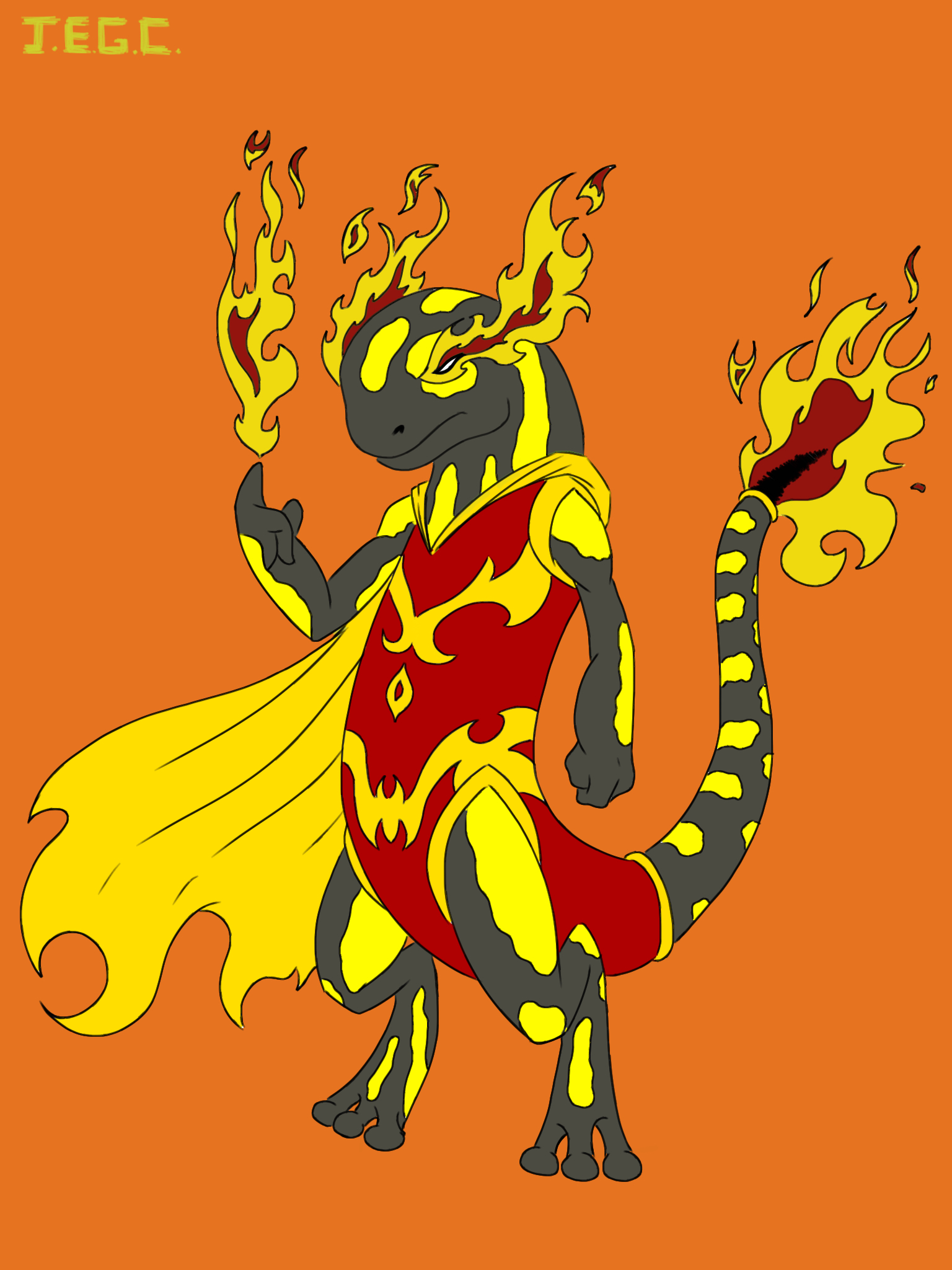 Fire slamander superhero  by jjjjoooo1234