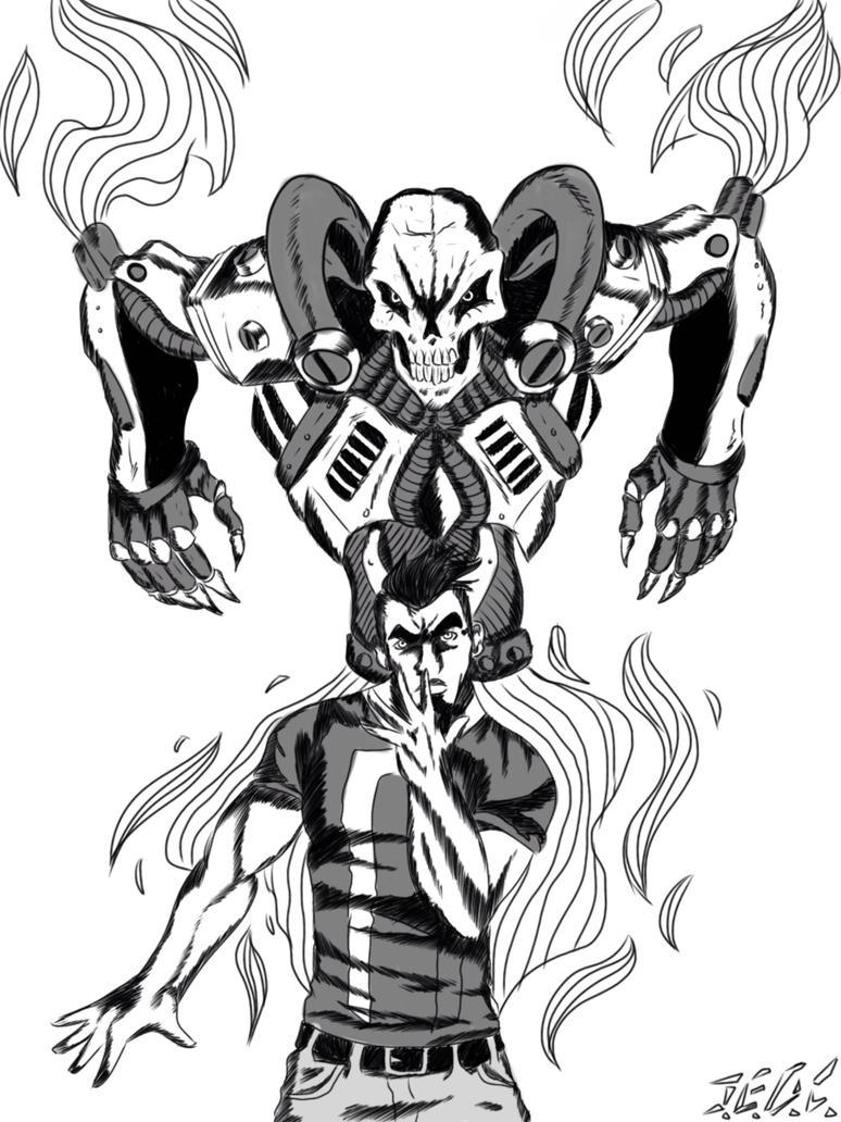 Ghost rider jojo style by jjjjoooo1234