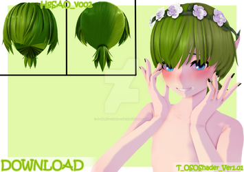 {DOWNLOAD} Hair Edit - Greener [MMD]