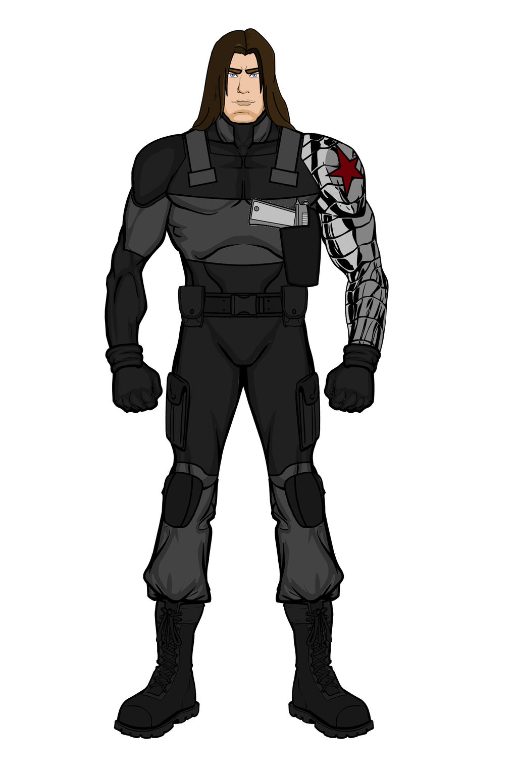 Bucky Barnes- Winter Soldier (Heromachine)No Mask by