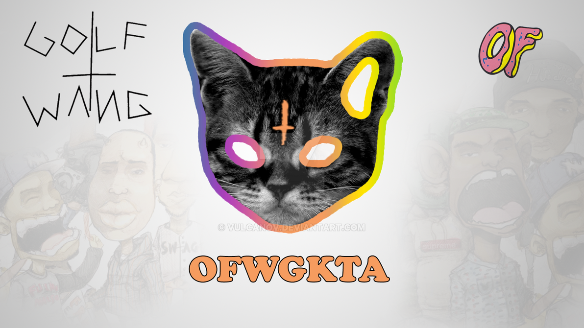 Odd Future Golf Wang Ofwgkta By Vulcanov On Deviantart OFWGKTA Cat Logo Wallpaper Print