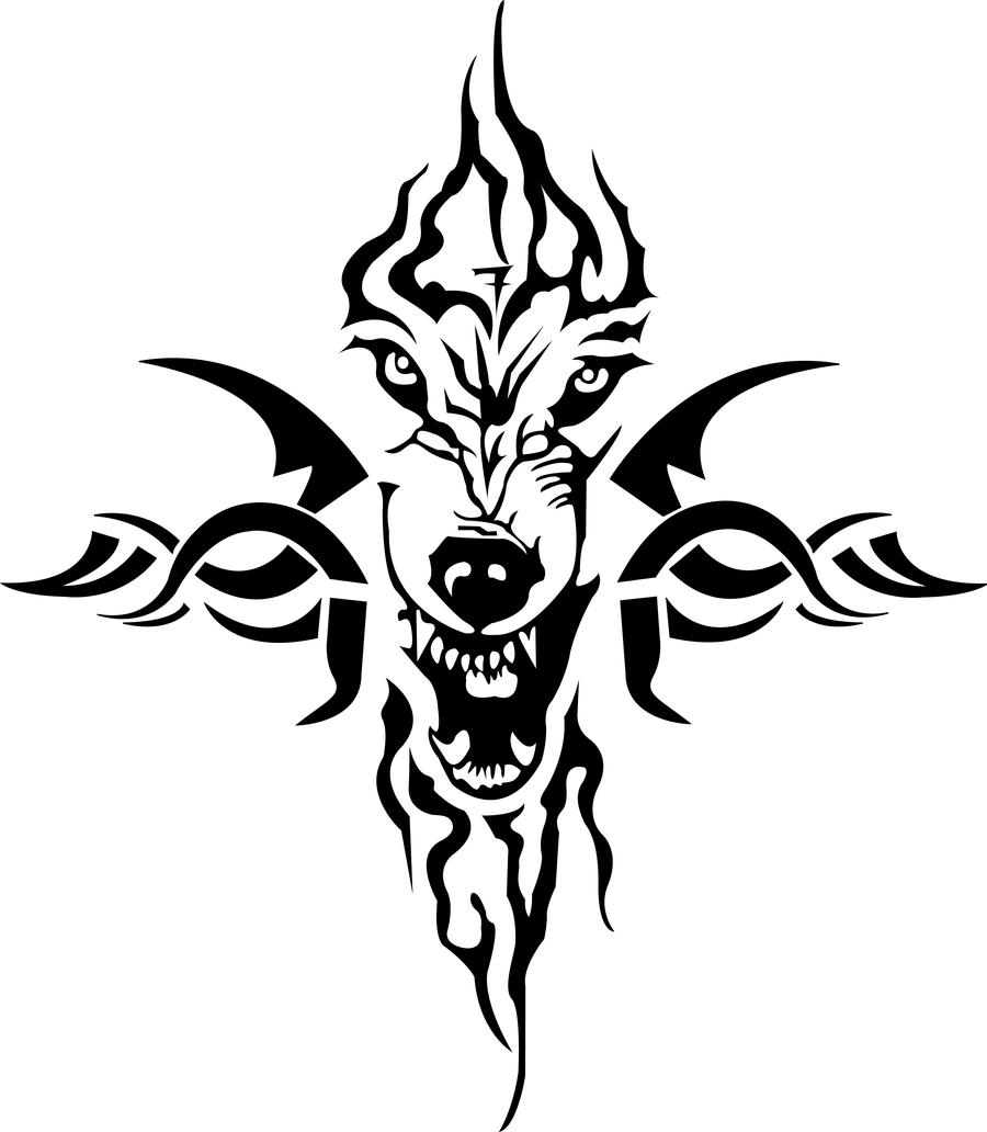Tribal Wolf Wallpaper: Vicious Wolf Tribal By Ryangee123 On DeviantArt