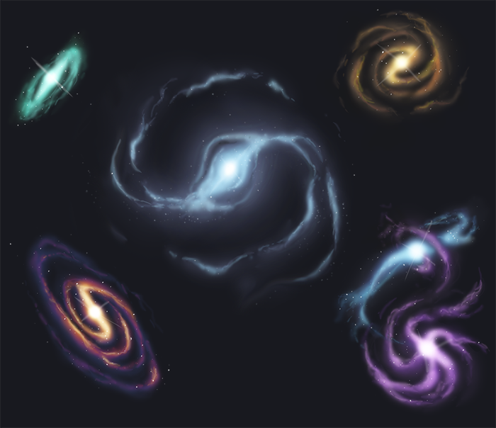 Galaxy Speedpaints by unluckyth13teen