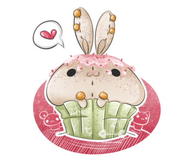 .: Birthday Bunnycake :. by PlushieLemon